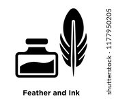 feather and ink icon vector...   Shutterstock .eps vector #1177950205
