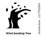 wind bending tree icon vector... | Shutterstock .eps vector #1177952065
