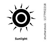 sunlight icon vector isolated... | Shutterstock .eps vector #1177952218