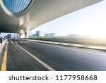 high speed view of road with... | Shutterstock . vector #1177958668