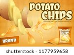 vector promotion banner with... | Shutterstock .eps vector #1177959658