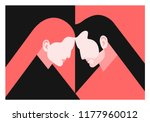 couple in love. two lovers  man ... | Shutterstock .eps vector #1177960012