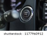 engine start stop button  | Shutterstock . vector #1177960912