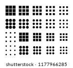 dots menu ui icons set. vector