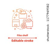 files shelf concept icon. file... | Shutterstock .eps vector #1177969582