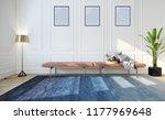modern bright interior with...   Shutterstock . vector #1177969648