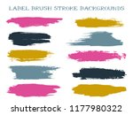 minimal label brush stroke... | Shutterstock .eps vector #1177980322
