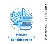 studying concept icon. school...   Shutterstock .eps vector #1177981855