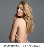 beautiful naked girl covers the ... | Shutterstock . vector #1177985638