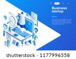 business startup modern flat... | Shutterstock .eps vector #1177996558