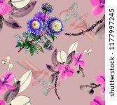 watercolor floral pattern....   Shutterstock . vector #1177997245