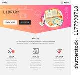 flat design responsive ui... | Shutterstock .eps vector #1177998718