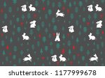 cute nature wild life pattern... | Shutterstock .eps vector #1177999678