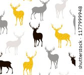seamless christmas pattern with ... | Shutterstock .eps vector #1177999948