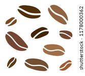 coffe beans background  vector... | Shutterstock .eps vector #1178000362