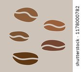 coffe beans background  vector... | Shutterstock .eps vector #1178000782
