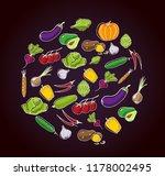 set of fresh seasonal... | Shutterstock .eps vector #1178002495