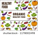 set of banners about organic... | Shutterstock .eps vector #1178002498