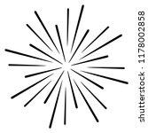 vintage sunburst explosion... | Shutterstock .eps vector #1178002858