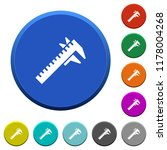 caliper round color beveled...   Shutterstock .eps vector #1178004268