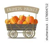 Vector Of Harvest Pumpkins In...