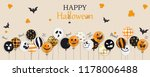 happy halloween. trick or treat.... | Shutterstock .eps vector #1178006488
