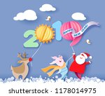 color paper cut design and... | Shutterstock .eps vector #1178014975