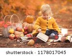 little girl reading her first... | Shutterstock . vector #1178017045