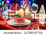 beautiful table setting for... | Shutterstock . vector #1178019718