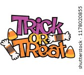 vector trick or treat candy... | Shutterstock .eps vector #1178020855