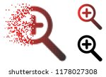 zoom in icon in sparkle ...   Shutterstock .eps vector #1178027308