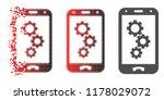 smartphone app gears icon in... | Shutterstock .eps vector #1178029072