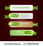a set of vector promo banners... | Shutterstock .eps vector #117802936