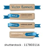a set of vector promo cardboard ... | Shutterstock .eps vector #117803116