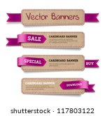 a set of vector promo cardboard ... | Shutterstock .eps vector #117803122