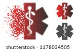 medical life star icon in... | Shutterstock .eps vector #1178034505