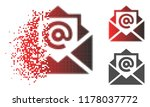 email icon in dissolved ... | Shutterstock .eps vector #1178037772
