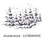 winter background with  snow... | Shutterstock .eps vector #1178040505
