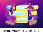 tablet with users communicating ... | Shutterstock .eps vector #1178053012