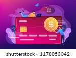 credit card with dollar coin... | Shutterstock .eps vector #1178053042