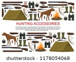 hunting equipment and hunter...   Shutterstock .eps vector #1178054068