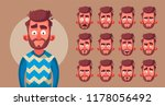set of character's emotions.... | Shutterstock .eps vector #1178056492