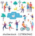park happy people activities... | Shutterstock .eps vector #1178065462