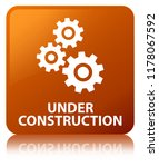 under construction  gears icon  ... | Shutterstock . vector #1178067592