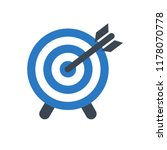 target glyph vector icon. flat...