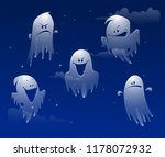 ghost apparition spook horror a ... | Shutterstock .eps vector #1178072932