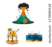 vector design of natural and... | Shutterstock .eps vector #1178089618