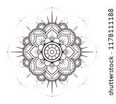 mandala in black and white ... | Shutterstock .eps vector #1178111188