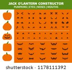 Halloween Pumpkin Flat Icons...