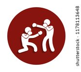 sparring boxers icon in badge...